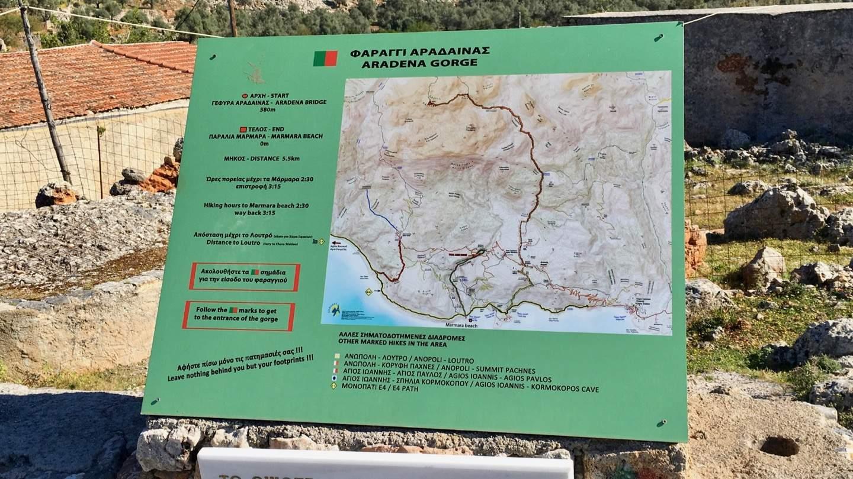 Lageplan der Wanderung