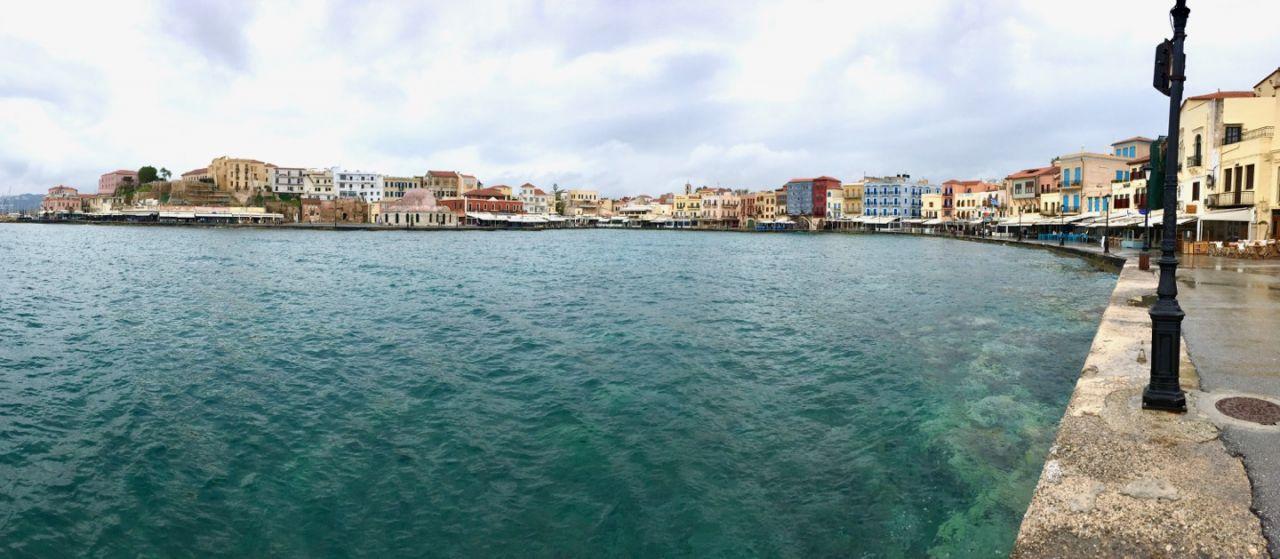 Hafenpromenade von Chania am zweiten Tag meiner Kreta Rundreise