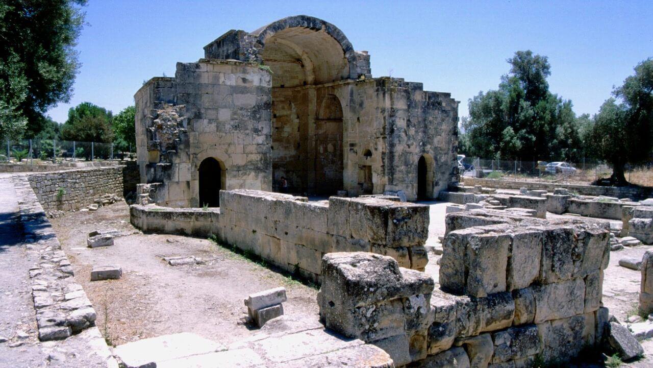 Die Titus-Basilika in Gortys