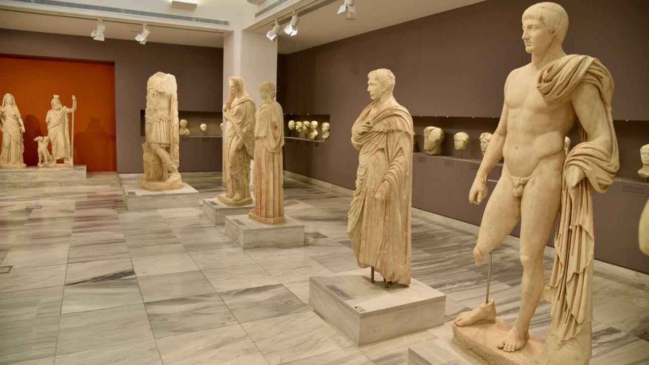 Ausstellung über die römischen Zeit im Archäologischen Museum Heraklion