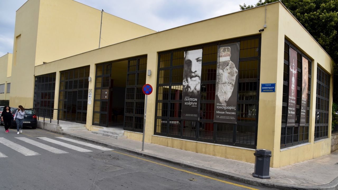 Eingang des archäologischen Museum Heraklion
