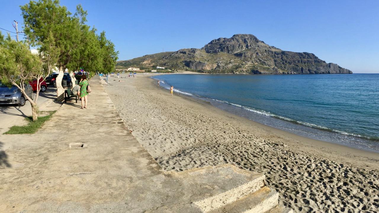 Der Sandstrand von Plakias