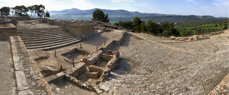 Treppen vom Palast von Phaistos