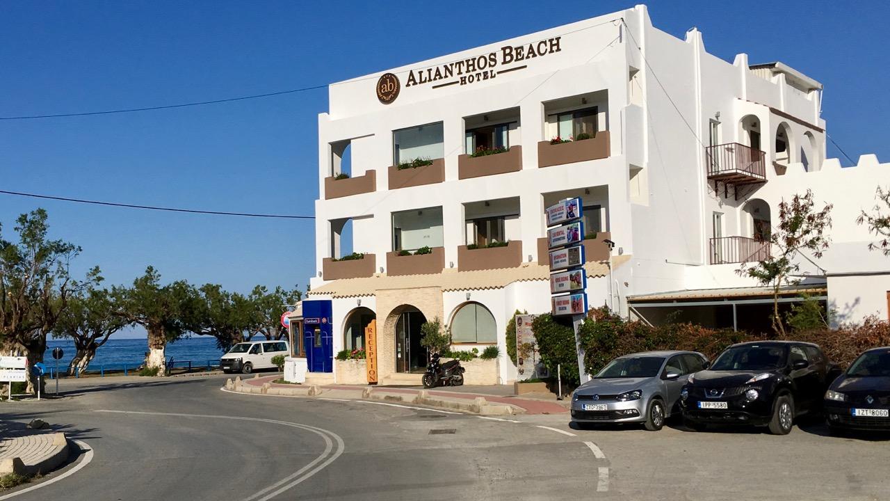 Geldautomat in Plakias am Alianthos Beach Hotel