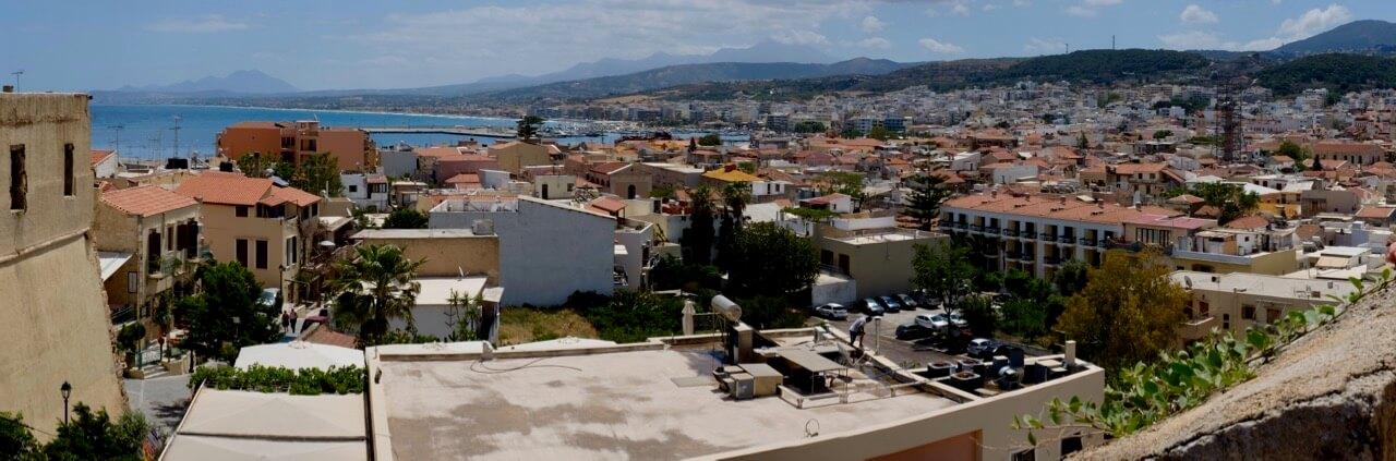 Blick auf Rethymno