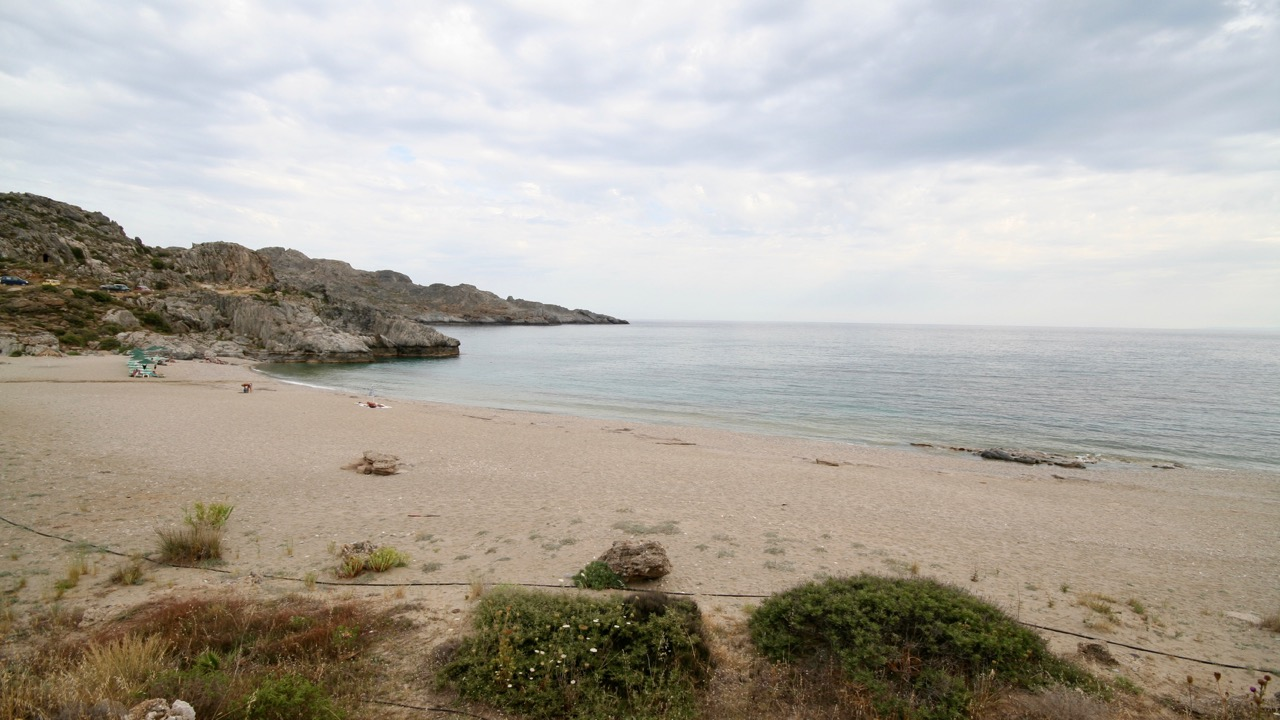 Strandabschnitt am Domnoni Beach bei Plakias